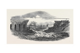 Destruction of the Crows-Mills Viaduct on the Midland Railway, Near Leicester Giclee Print