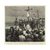 The Crucifixion, a Scene from a Passion Play Performed by British Columbia Indians, Near Vancouver Giclee Print