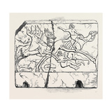 Flight of an Arab Mounted Upon a Camel; Nimroud Sculptures, Just Received at the British Museum Giclee Print