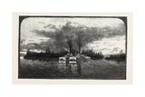 Lower Ottawa, a Tow of Lumber Barges, Canada, Nineteenth Century Giclee Print