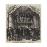 Pilgrims at the Shrine of St Edmund of Canterbury, in the Abbey Church of Pontigny Giclee Print