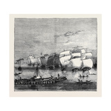 The Indo-Chinese Opium Trade: Opium Fleet Descending the Ganges on the Way to Calcutta Giclee Print