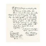 Facsimile of a Declaration About the Scarcity of Food; American Revolutionary War, USA, 1870S Giclee Print