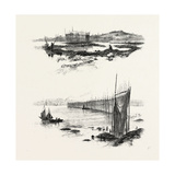 New Brunswick, Salmon Weirs, St. John Harbour, Canada, Nineteenth Century Gicléedruk