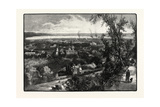 Hamilton and Burlington Bay, from the Mountain, Canada, Nineteenth Century Giclee Print