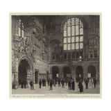 The New Law Courts at Birmingham, Opened by T R H the Prince and Princess of Wales Giclee Print