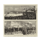 Visit of their Royal Highnesses Princes Albert Victor and George of Wales to Dublin Giclee Print