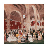 Dancing in the Building of the Lonja of Barcelona, 1826. by Onofre Alsamora (1810-1880) Giclee Print