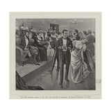 The Tour Through Canada of the Earl and Countess of Aberdeen, an Official Reception at Quebec Giclee Print