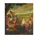 The Wounding of Sir Philip Sidney (1554-86) at the Battle of Zutphen, 22nd September 1586 Giclee Print