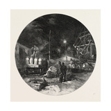 Montreal, Transferring Freight by Electric Light, Canada, Nineteenth Century Giclee Print