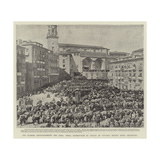 The Spanish Reinforcements for Cuba, Papal Benediction of Troops at Vittoria before their Departure Giclee Print