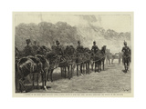 A Battery of the Royal Horse Artillery Firing a Royal Salute in Hyde Park When the Bells Proclaimed Giclee Print