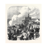 The National Artillery Association at Shoeburyness: Shooting for the Queen's Prize 1867 Giclee Print
