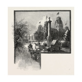 Montreal, City Hall and Nelson's Monument, Canada, Nineteenth Century Giclee Print