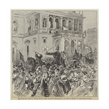 The Kossuth Riots in Buda-Pesth, the Military Dispersing the Mob in Front of the Opera House Giclee Print