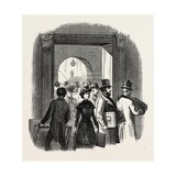 The Royal Academy: the Entrance from the Quadrangle of Burlington House: Taking in In the Hall. Uk Giclee Print