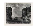 View in Colorado: the Gate of the Garden of the Gods, USA, 1870S Giclee Print