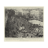 The Carnival at Nice, the Queen Going in Procession Through the Streets Giclee Print