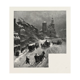 Quebec, the Basilica, from Fabrique Street, Canada, Nineteenth Century Giclee Print