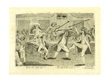 Congressional Pugilists: Griswold and Lyon, at Congress Hall, Philadelphia, Pa, 1798 Giclee Print