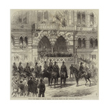 Visit of the Prince of Wales to Chester, the Prince Opening the New Townhall Giclee Print