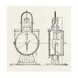 Compressed Oil Gas for Lighting Cars, Steamboats, and Buoys: Locomotive Headlight, 1882 Giclee Print