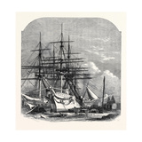 Hospital Ships for the Abyssinian Expedition Fitting Out in the Victoria Docks 1867 Giclee Print