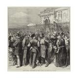 Siege of Paris, C'Est Valerien Qui Donne! Scene on the Terrace of St Germains Giclee Print