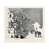 The Recent Campaign in Egypt: the Duke of Connaught Ascending the Pyramid of Cheops, Cairo Giclee Print