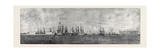 The Russian Navy at Cronstadt, Sketched from the Paddle Box of H.M.S. Merlin Giclee Print