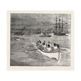 The Race at Greenhithe Between Naval Cadets of H.M.S. Worcester and H.M.S. Conway Giclee Print