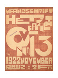 Cover for the November 1922 Issue of the Magazine 'Het Overzicht', 1922 Giclee Print