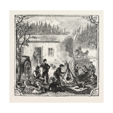 Hops and Hop Pickers, in a Kentish Hop Garden, Kent, England, the Temporary Home, 1876, Uk Giclee Print