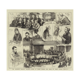 The Brighton Railway Tragedy, Notes in Court During the Trial of Percy Lefroy Mapleton Giclee Print