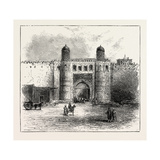 The Russian Expedition to Khiva, Views in the City: the Principal Gateway, Uzbekistan, 1873 Giclee Print