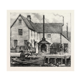 The Newfoundland Fisheries Question: Newfoundland Lobster Factory on the French Shore, Canada, 1890 Giclee Print