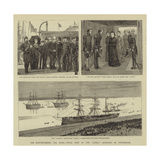 The Reinforcements for India, Royal Visit to the Jumna Troopship at Portsmouth Giclee Print