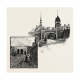 Quebec, St. John's Gate (Left); Kent Gate (Right), Canada, Nineteenth Century Giclee Print