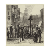 Opening of the American Centennial Festival Exhibition, a Street in Philadelphia Giclee Print