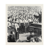 Concert of Boys in the Mars Training Ship Dundee for the Widow and Children of the Mate of the Nort Giclee Print