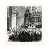 Enthronement of the Bishop of London in St. Paul's Cathedral London Uk 1869 Giclee Print