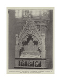 Archbishop Benson's Monument in Canterbury Cathedral, Unveiled by the Duchess of Albany on 8 July Giclee Print