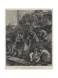 The Railway Disaster at Hexthorpe, Near Doncaster, Extricating the Dead and Wounded Giclee Print