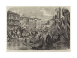 Visit of King Victor Emmanuel to Venice, State Barges of the Deputations of the Venetian Cities Giclee Print