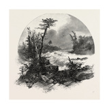 French Canadian Life, Head of Shawenegan Falls, Canada, Nineteenth Century Giclee Print