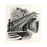Staircase at the Entrance to the Casa De La Disputacion. Barcelona, Spain Giclee Print