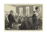 The Brighton Railway Tragedy, Percy Lefroy Mapleton before the Magistrates at Cuckfield Giclee Print