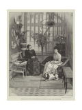 Princess Mary of Teck and Her Daughter on the Verandah at White Lodge, Richmond Park Giclee Print