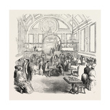 The Berkshire and Reading Chess Club Soiree, in the New Hall, Reading, UK, 1851 Giclee Print